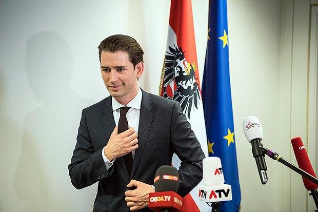 Себастьян Курц выступил с заявлением для прессы, Вена, 22 октября, 2017.