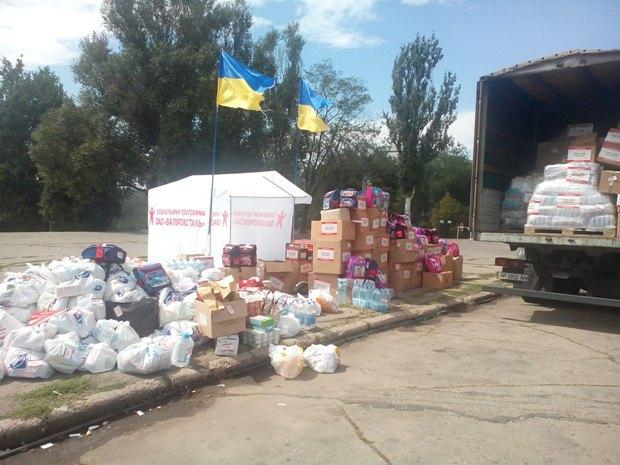 В Запорожье собрали 30 тонн волонтерской помощиза 3 дня