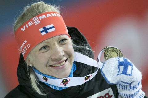 Мякяряйнен победила в пасьюте в Тюмени и возглавила общий зачет в Кубке мира по биатлону