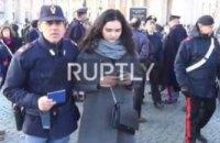 У Ватикані затримали українську журналістку, яка знімала акцію Femen