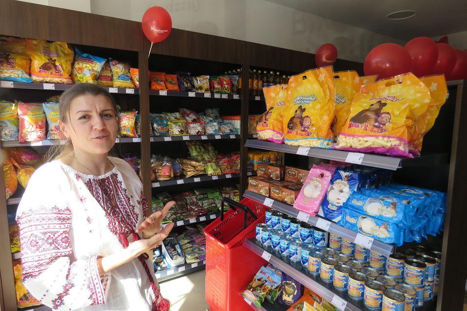 Ірина Примєчаєва разом з чоловіком відкрили магазин 'Україночка' в центрі Гожува.