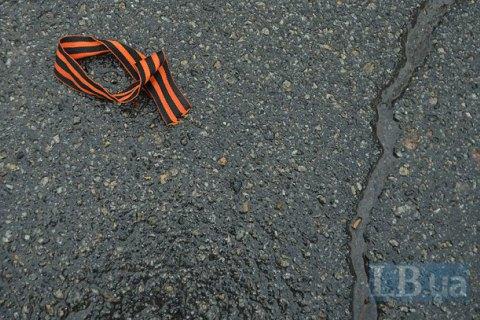 Поліція вилучає георгіївські стрічки в Одесі