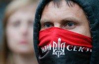 """Неизвестные из """"Правого сектора"""" прогнали херсонских журналистов с места блокады Крыма"""