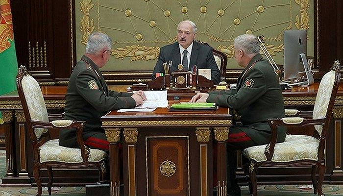 Встреча Александра Лукашенко с государственным секретарем Совета безопасности Станиславом Засем и председателем Госпогранкомитета Анатолием Лаппо