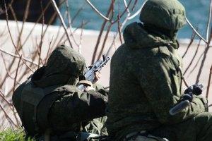 Российские военные захватили воинскую часть в Черноморском