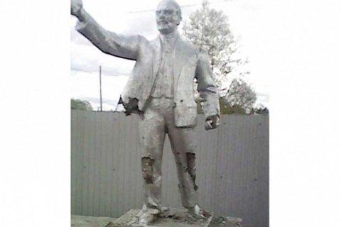 В России школьники разбили памятник Ленину