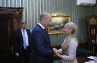 Тимошенко поздравила нового главу Всемирного конгресса украинцев с избранием