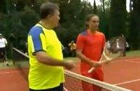 Даже тренировки с Януковичем не помогли Долгополову обыграть Надаля