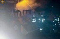На території підприємства в Києві вщент згоріли три екскаватори