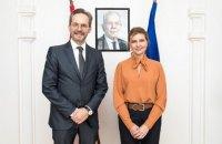 Елена Зеленская и посол Австрии обсудили сотрудничество в развитии безбаръерной среды