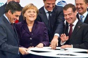 """Медведев и Меркель запустили """"Северный поток"""""""