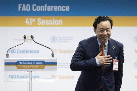 Новым гендиректором продовольственной организации ООН избран китаец Цюй Дунъюй