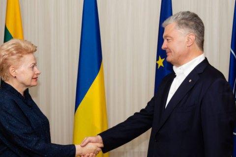 Порошенко и Грибаускайте обсудили вызовы безопасности для Украины и Европы