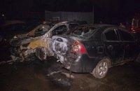 В Киеве неизвестные подожгли на стоянке машину общественного активиста