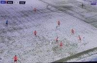 Камуфляж по-турецьки: в чемпіонаті Туреччини в снігопад команда зіграла в білій формі