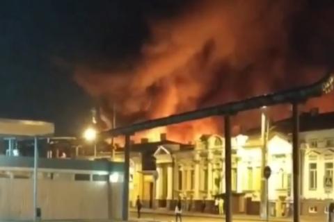 В Харкові на Центральному ринку сталась масштабна пожежа