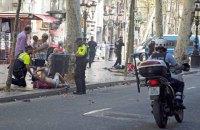 Появилось видео первых минут после нападения террористов в Барселоне