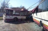 Кількість жертв зіткнення тролейбуса з автобусом у Харцизьку зросла до 5