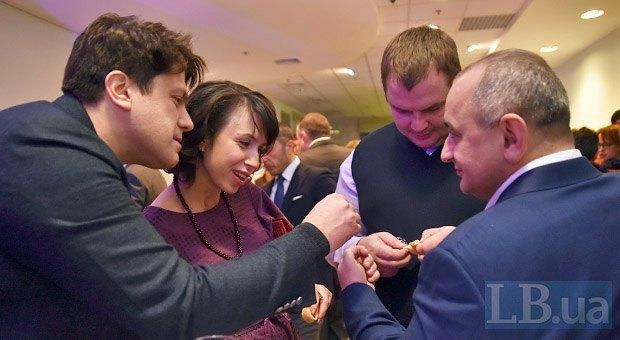 Слева направо: Иван Винник, Татьяна Черновол, Дмитрий Булатов и Анатолий Матиос