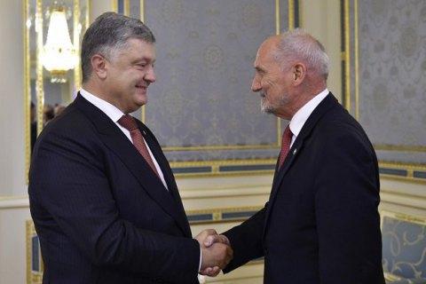 Порошенко провів зустріч з міністром оборони Польщі