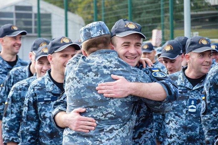 Зустріч звільнених українських моряків в Одесі, 14 вересня 2019