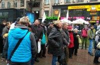 """В центре Киева заметили """"профессиональных митингующих"""""""