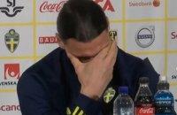 Ібрагімович розплакався на першій після повернення у збірну Швеції пресконференції