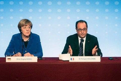 Олланд і Меркель підтримують продовження санкцій проти РФ