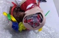 Харьковские контрабандисты спрятали в голове этно-куклы 43 пакета с семенами конопли