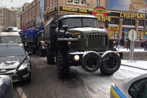 Военные авто на Бессарабке