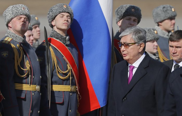 Касым-Жомарт Токаев во время визита в Москву, 3 апреля 2019.