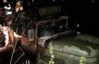 В военном грузовике во Львовской области сгорел мужчина