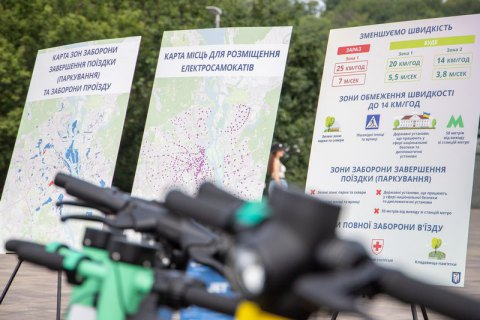 Оператори прокату електросамокатів у Києві зменшили їх швидкість до 20 км/год
