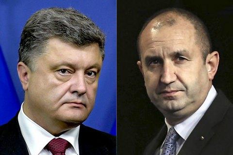 Порошенко провел первый разговор с новым президентом Болгарии