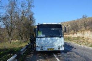 В Крыму на ходу загорелся рейсовый автобус