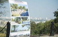 В Киеве завершились работы по восстановлению территории Старокиевской горы