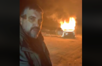 """Главный """"евробляхер"""" сжег свой Land Rover в знак протеста против законов, принятых Радой"""