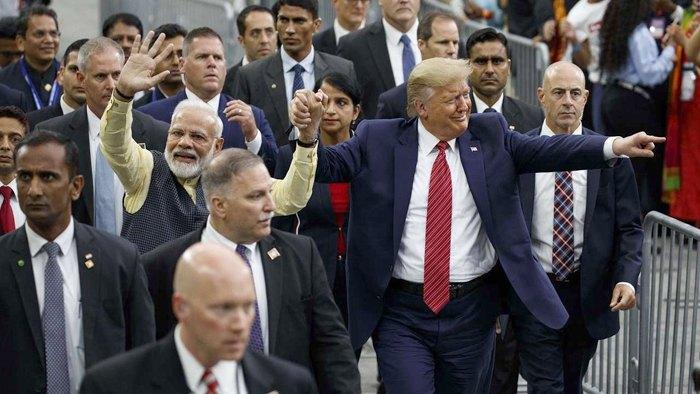 Премьер-министр Индии Нарендра Моди и президент США Дональд Трамп