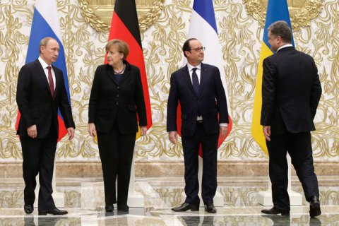"""Олланд рассказал о первой встрече """"нормандской четверки"""""""
