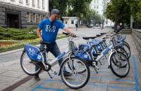 Біля Адміністрації президента в Києві відкрили пункт прокату велосипедів