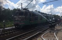 У Харківській області призупинили рух поїздів через загоряння електровоза