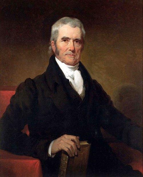 Джон Маршалл - голова Верховного Суду США в 1801-1835рр, один з родоначальників американської правової системи.