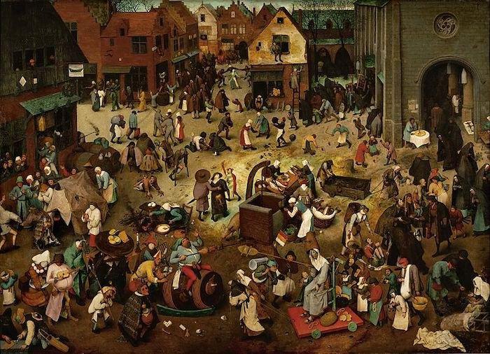 """Питер Брейгель Старший, """"Битва Карнавала с Постом"""", 1569"""