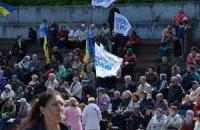 Опоблок годував своїх мітингувальників гречаною кашею з тушонкою