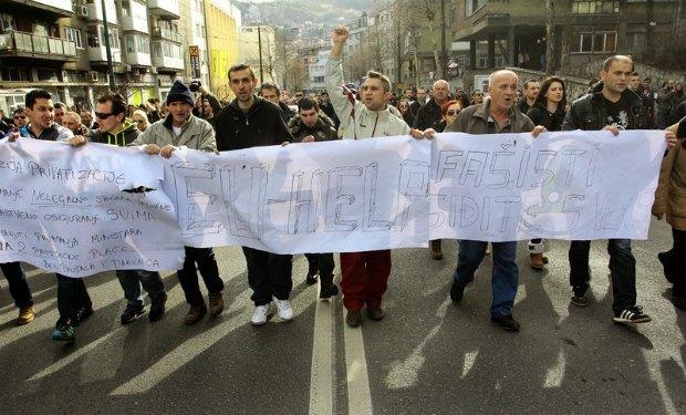 Мирная демонстрация в Сараево