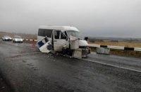 В Донецкой области в тумане разбился автобус: 17 пострадавших