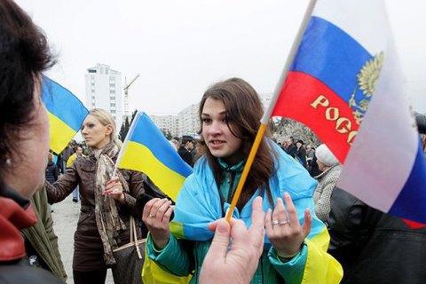 Більшість українців не вважають себе одним народом з росіянами