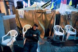 Милиция не будет сносить палаточный городок сторонников Тимошенко накануне выборов