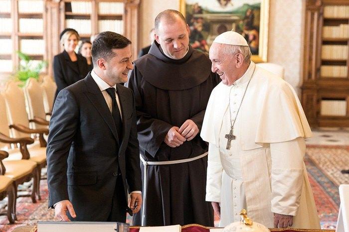 Зеленский на встрече с Папой Франциском (Ватикан)