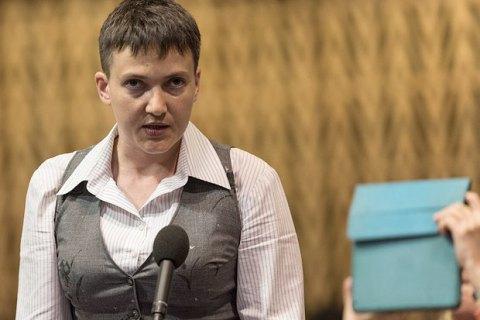 Савченко виступила за поетапне зняття санкцій з Росії